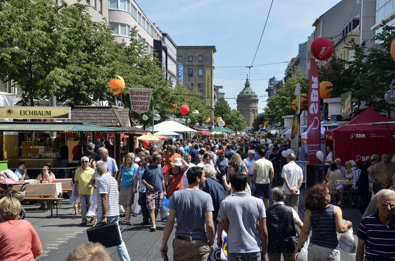 Die Festmeile des Mannheimer Stadtfests (Foto: Stadt Mannheim)