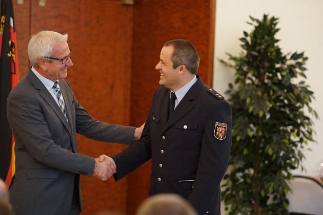 Polizeipräsident Jürgen Schmitt und Polizeioberrat Klaus Sommer (Foto: Holger Knecht)