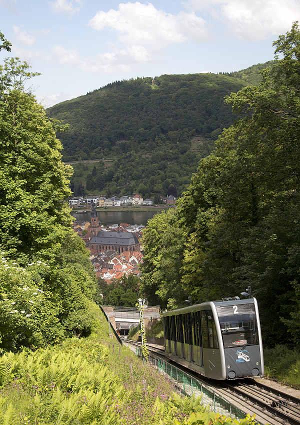 Die untere Bergbahn (Foto: Stadtwerke Heidelberg GmbH)