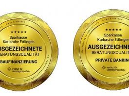 Die Sparkasse Karlsruhe Ettlingen wurde nicht nur zertifiziert, sondern auch ausgezeichnet (Foto: Sparkasse Karlsruhe Ettlingen)
