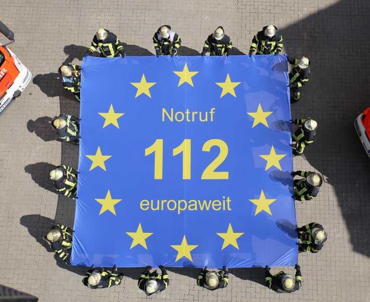Überall in Europa einheitlich - Die 112 feiert 25 Jahre ihres Bestehens