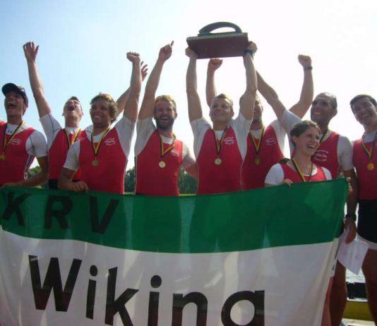 Der Achter des Karlsruher RV Wiking gewann die Landesmeisterschaft in der Königsklasse des Rudersports (Foto: Hannes Blank)