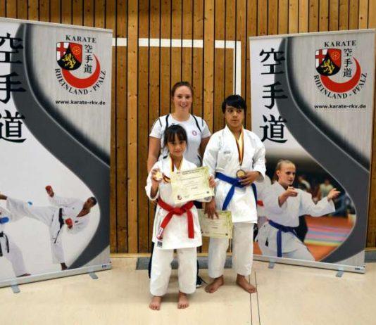 Anika Faul (l.), Jonathan Faul (r.) und Sandra Gutzmer (Foto: TSV Lambrecht)