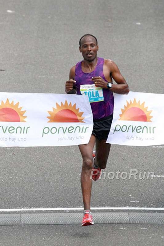 Tadesse Tola (bei seinem Sieg beim Bogota Halbmarathon) (Foto: www.photorun.net)