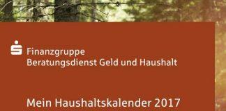 Broschüre kombiniert Kalender und Haushaltsbuch: Der neu erschienene Haushaltskalender 2017 kann als Broschüre unter www.geld-und-haushalt.de kostenlos bestellt oder heruntergeladen werden.