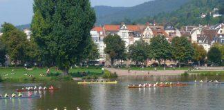 """Das jährliche """"Rudern gegen Krebs"""" auf dem Neckar in Heidelberg (Foto: Hannes Blank)"""