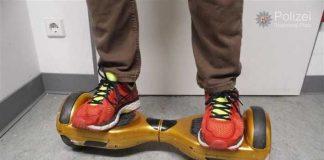 Spass zu Ende - Die Polizei warnt eindringlich die Hooverboards nicht im öffentlichen Verkehr zu benutzen