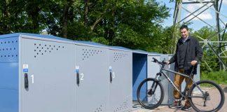 Im Jahr 2016 wurden in Heidelberg viele neue Abstellmöglichkeiten für Fahrräder geschaffen, unter anderem die abschließbaren Fahrradboxen an der Haltestelle Rohrbach-Süd. (Foto: Philipp Rothe)