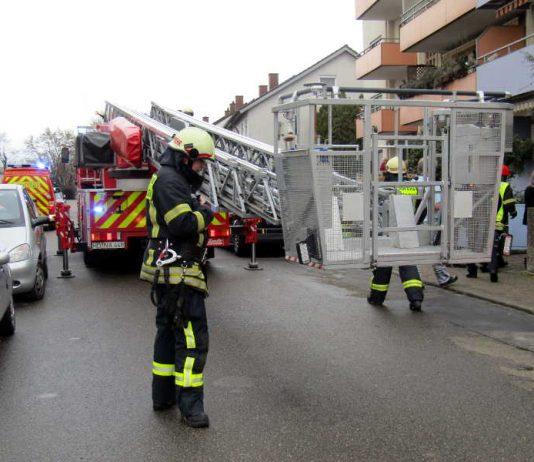 Feuerwehr im Einsatz in Schwetzingen