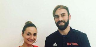 Freuen sich auf gemeinsame Zeiten: TSG-Geschäftsführerin Verena Dietrich und Mathias Lenz (Foto: TSG Ludwigshafen-Friesenheim)