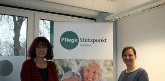Sonja Hill (r.) und Sabine Theis vom Pflegestützpunkt Wörrstadt-Wöllstein (Foto: Kreisverwaltung Alzey-Worms / Andrea Maurer)