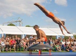 Carl und Lorenz Steckel beim SSC-Sportfestival (Foto: Paul Needham)