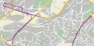 Routenverlauf des Schienenersatzverkehrs (Quelle: VBK)