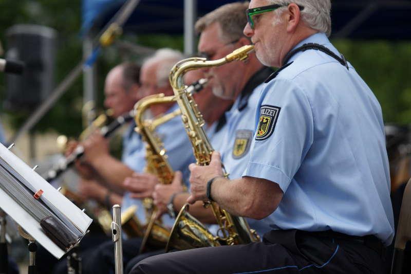 Saxophonsatz der BigBand Bundespolizeiorchester Berlin (Foto: Holger Knecht)