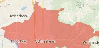 Großbrand Ladenburg (Screenshot Katwarn)
