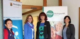 v.l.: Maria Di Geraci-Dreier, Ministerin Sabine Bätzing-Lichtenthäler, Sabine Theis, Sonja Hill (Foto: Kreisverwaltung Alzey-Worms)