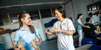 Praxisnahe Ausbildung an der PT Akademie (Foto: BG Klinik Ludwigshafen)