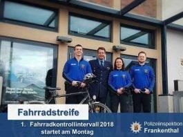 Fahrradkontrolle der Polizeiinspektion Frankenthal