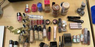 Sichergestellte Kosmetikprodukte