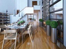 Luxury two-story dining room loft style Copyright : Petro Kuprynenko)