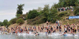 Start des Rheinstetten Triathlons ist wieder am Epplesee (Foto: Sportfreunde Forchheim)