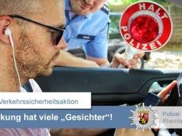 Mehr als die Hälfte der Verkehrsunfälle steht im Zusammenhang mit Ablenkung. (Foto: Polizei RLP)