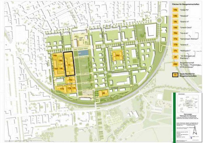 """Begleitet von der Landauer Stadtverwaltung entstanden und entstehen derzeit zehn Baugemeinschaftsprojekte im """"Wohnpark Am Ebenberg"""". Um das Erfolgsmodell """"Baugemeinschaften"""" auch künftig zu unterstützen und weiterzuentwickeln, wird mit dem Baufeld 15 ein weiteres Areal für die Entwicklung durch Baugemeinschaften ausgeschrieben. Quelle: Stadt Landau in der Pfalz"""