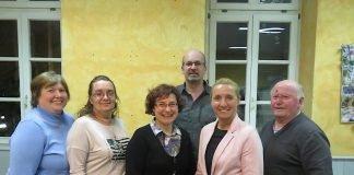 v.l. Manuela Müller, Anja Wieck, Petra Ludwig, Stefan Kögel, Petra Hutera, Werner Wissmann (Foto: Kreisjugendring Bad Dürkheim e.V.)