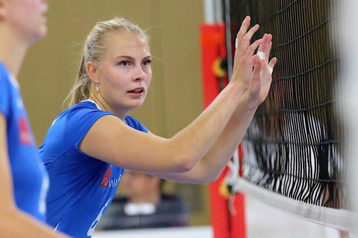 VCW-Mittelblockerin Selma Hetmann läuft heute erstmals für die Nationalmannschaft auf (Foto: Detlef Gottwald)