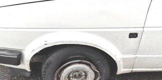 Platter Vorderreifen (Foto: Polizei RLP)