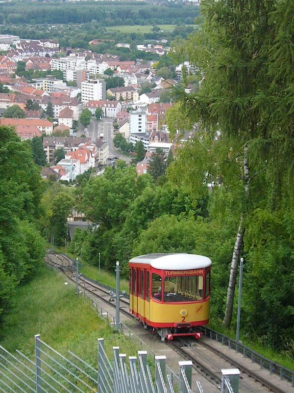 Die Turmbergbahn in Durlach (Foto: Hannes Blank)
