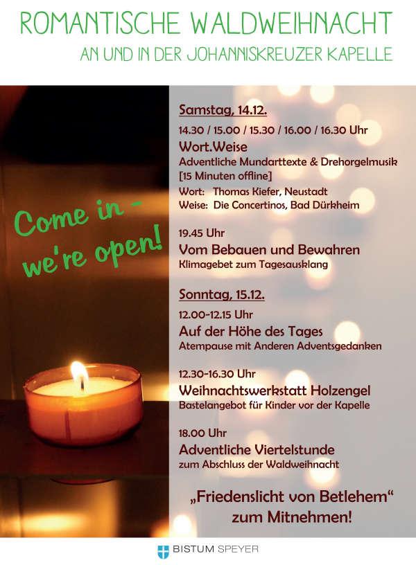 """""""Come in – we're open!"""" – Neues Angebot für Erwachsene und Kinder am dritten Adventswochenende"""