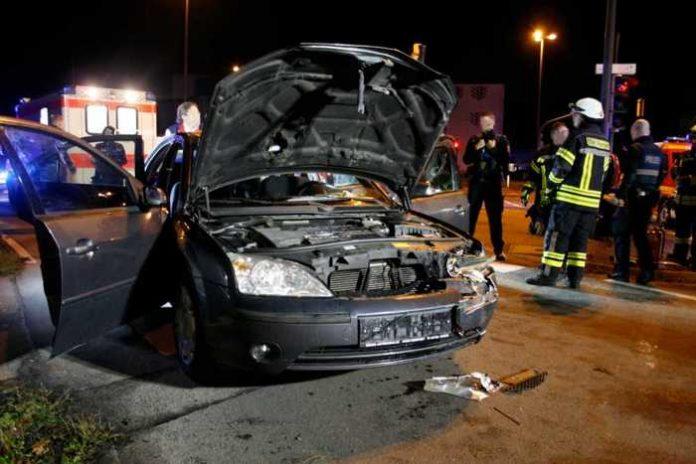 Unfall Schifferstadterstraße © Feuerwehr Speyer