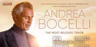 Tourdaten Andrea Bocelli