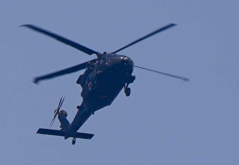 US-Amerikanischer Militärhubschrauber Sikorsky UH-60 Black-Hawk (Foto: Holger Knecht)