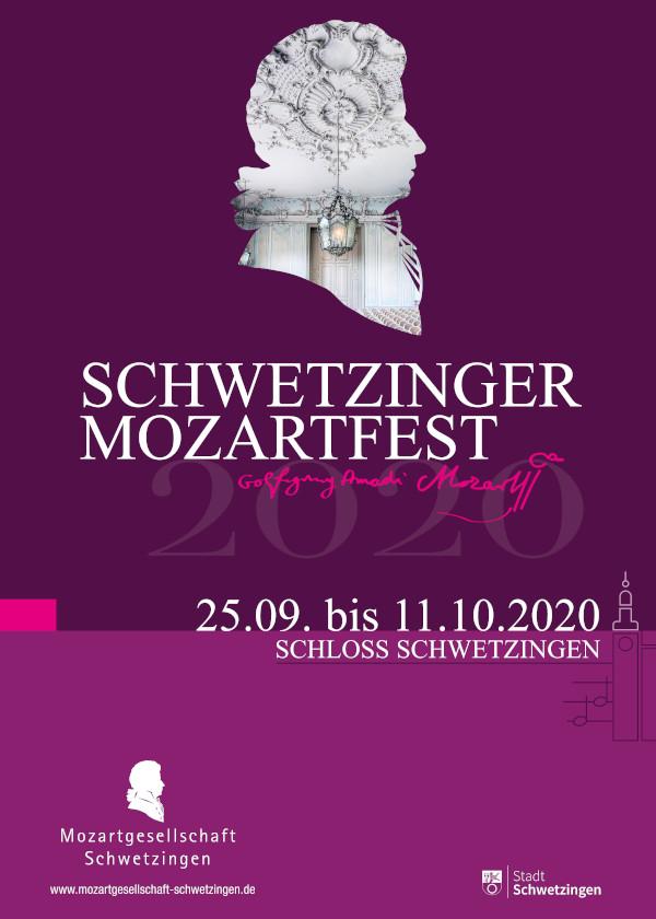 Mozartfest-Plakat (Quelle: Mozartgesellschaft Schwetzingen)