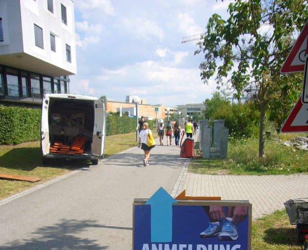 Anmeldung zum NCT-Lauf (Foto: Hannes Blank)