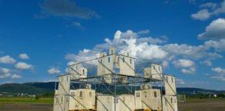 Der zentrale Wasser-Spiegel-Turm. (Foto: AHA - UnterwegsTheater - gemeinnützige GmbH / Fauser)