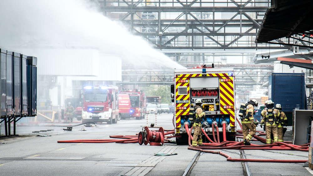 Großschadensalarmübung bei BASF (Foto: BASF/Marcus Schwetasch)