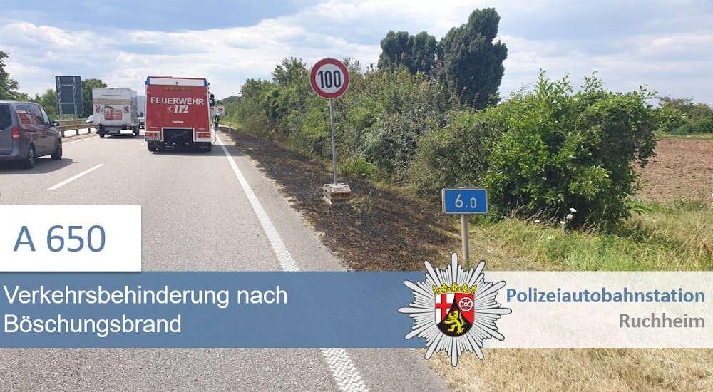 Böschungsbrand (Foto: Polizei RLP)
