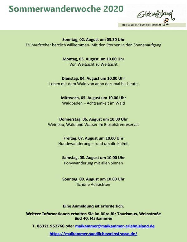 Infos zur Sommerwanderwoche