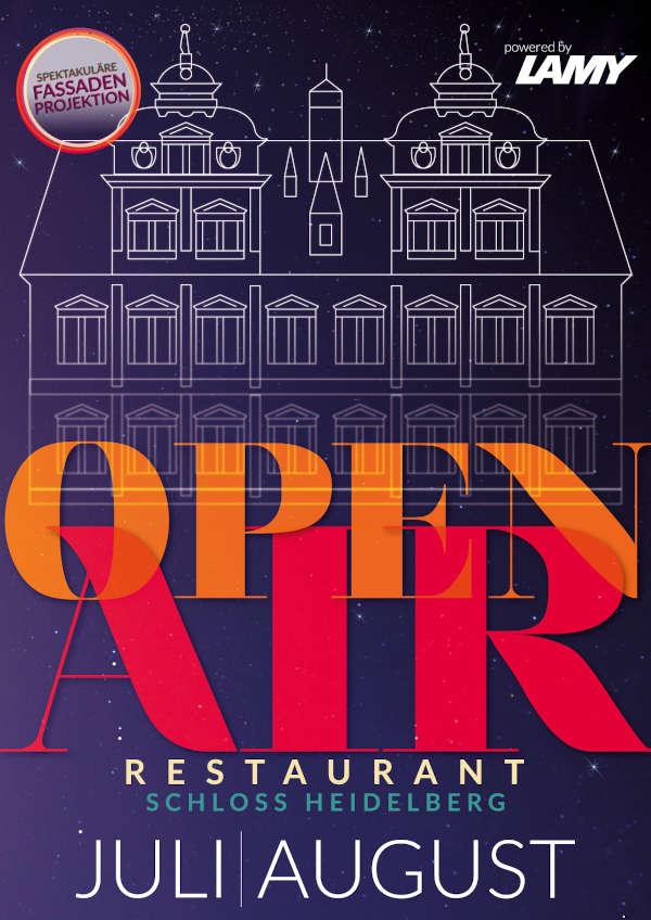 Plakat Open-Air-Restaurant Schloss Heidelberg