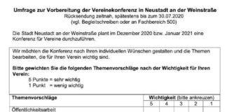 Umfrage (Quelle: Stadtverwaltung Neustadt)