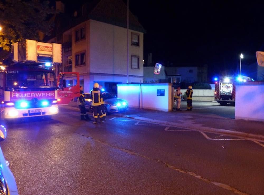 Einsatzstelle in der Friedrich-Ebert-Straße (Foto: Feuerwehr Neustadt)