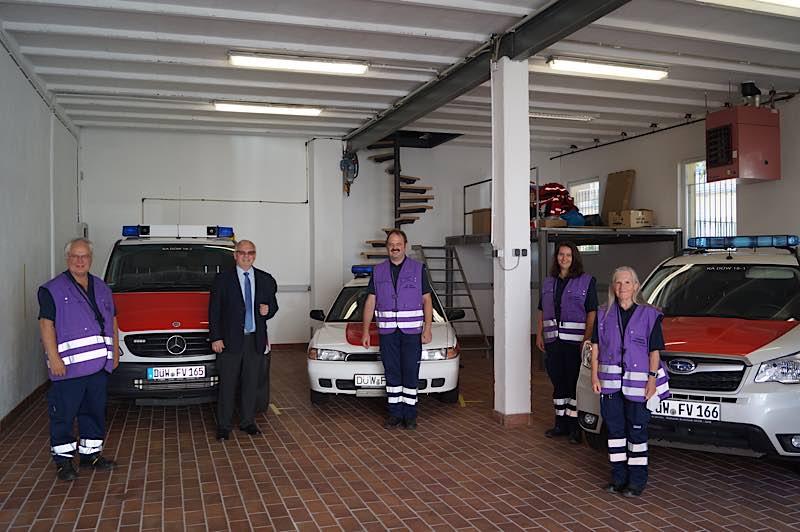 Karl-Ludwig Hauth (zweiter Vorsitzender), Landrat Ihlenfeld, Michael Feneis (Vorsitzender), Janine Reinards (Kassenwartin), Inge Schaumann (Foto: Kreisverwaltung Bad Dürkheim)