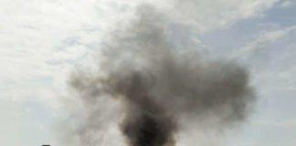 Gebäudebrand in der Winzinger Straße (Foto: privat)