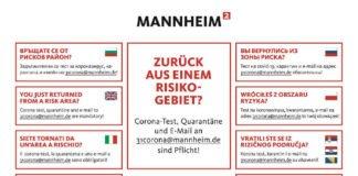 Plakat Reiserückkehrer (Foto: Stadt Mannheim)