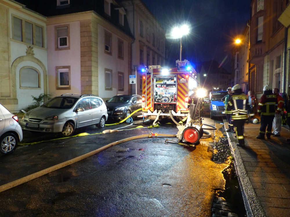 Feuerwehreinsatz in der Werderstraße (Foto: Feuerwehr Neustadt)
