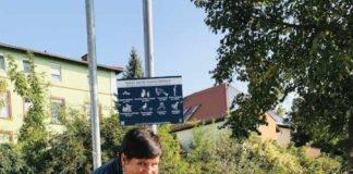 Umweltdezernentin Waltraut Blarr appelliert, Müll in die dafür vorgesehenen Abfallbehälter zu werfen (Foto: Stadtverwaltung Neustadt)