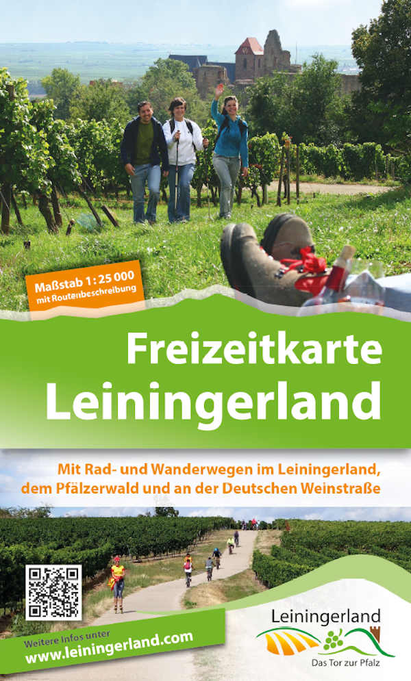 """Titelseite der neu erschienenen """"Freizeitkarte Leiningerland"""", herausgegeben vom Verein"""
